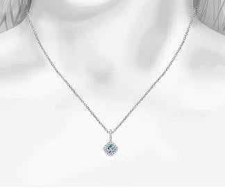 18k white gold aquamarine diamond pendant bullion diamond co 18k white gold aquamarine diamond pendant bullion diamond aloadofball Image collections