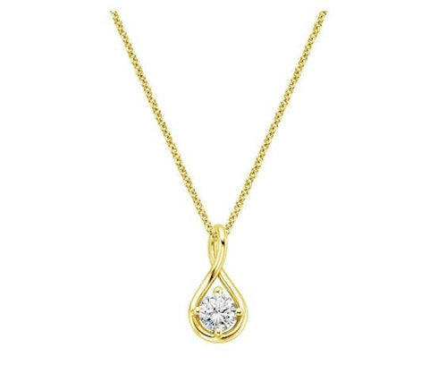 Diamond Twist Pendant in 18k Yellow Gold (1/2 Ct.tw.) - Bullion & Diamond, Co.