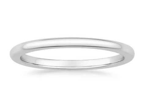 Petite Comfort Fit Wedding Ring in 18k White Gold