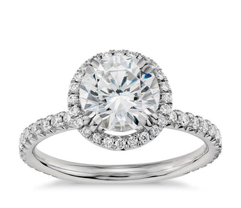 Halo Diamond Engagement Ring in Platinum (2/5 ct. tw.)