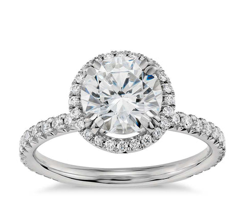 Halo Diamond Engagement Ring in Platinum (2/5 ct. tw.) - Bullion & Diamond, Co.