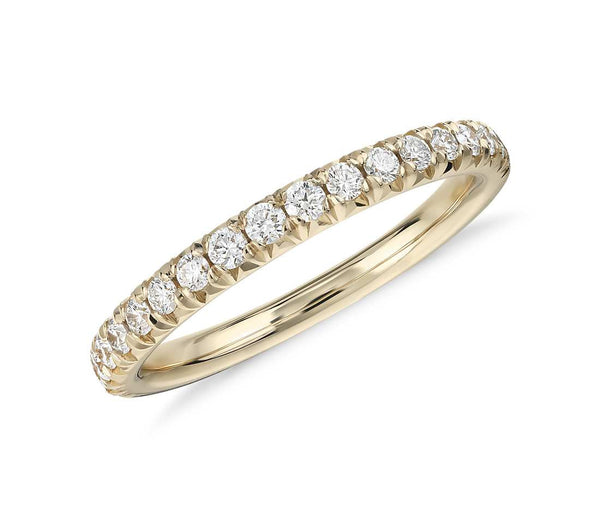 French Pavé Diamond Ring in 18k Yellow Gold (1/4 ct. tw.) - Bullion & Diamond, Co.