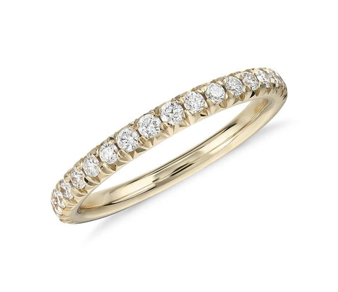 French Pavé Diamond Ring in 18k Yellow Gold (1/4 ct. tw.)