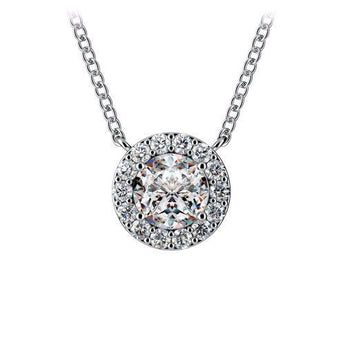Diamond Halo Pendant in 14k White Gold (1/3 ct. tw.)