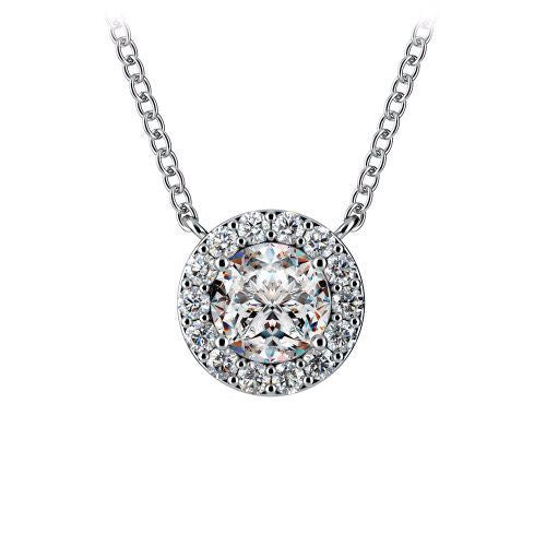 Diamond Halo Pendant in 14k White Gold (1/3 ct. tw.) - Bullion & Diamond, Co.