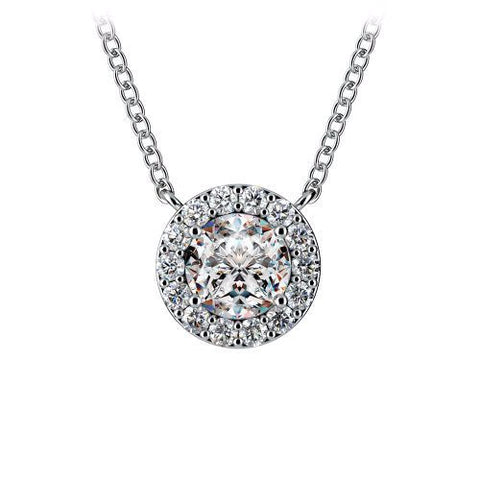 Diamond halo pendant in 14k white gold 13 ct tw bullion diamond halo pendant in 14k white gold 13 ct tw aloadofball Images