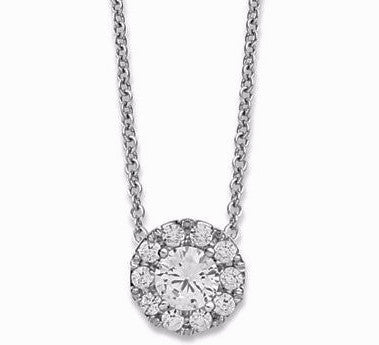 Diamond halo pendant in 14k white gold 13 ct tw bullion diamond halo pendant in 14k white gold 13 ct tw aloadofball Gallery