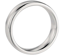 Comfort Fit Wedding Band in 14k White Gold