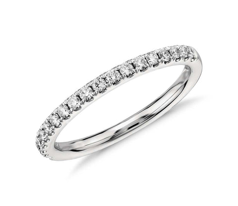 Pavé Diamond Wedding Band in 14k White Gold (1/4 ct. tw.)