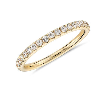 Pavé Diamond Wedding Band in 18k Yellow Gold (1/4 ct. tw.)