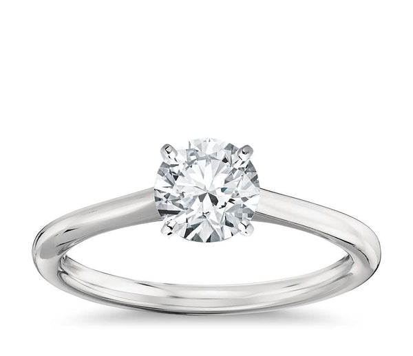 Solitaire Diamond Engagement Ring in Platinum - Bullion & Diamond, Co.