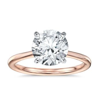 Petite Solitaire Engagement Ring in 18k Rose Gold
