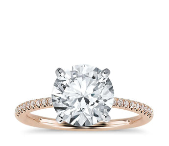 Petite Micropavé Diamond Engagement Ring (1/10 ct. tw.)
