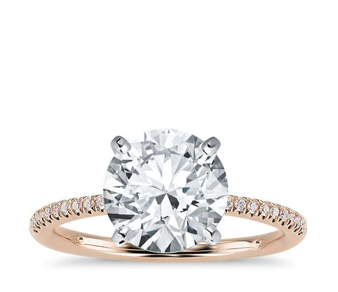 Petite Micropavé Diamond Engagement Ring (1/10 ct. tw.) - Bullion & Diamond, Co.