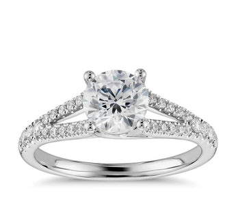 Split Shank Diamond Engagement Ring in 14k White Gold (1/3 ct. tw.)