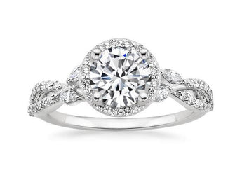 Halo Diamond Engagement Ring in Platinum (1/2 ct. tw.)