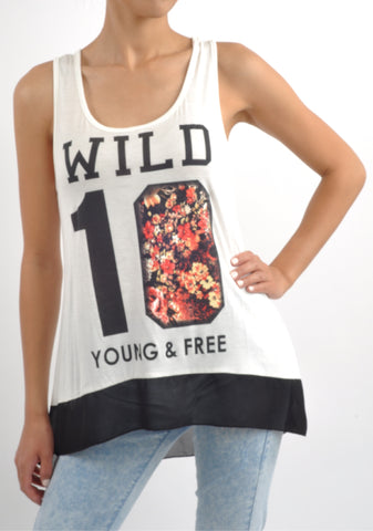 T6052 wild young & free tank
