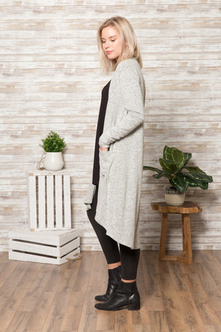 TU1621-HCBR long sleeve duster hacci brush