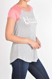 T6177X blessed baseball tunic plus size