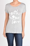 T5342X faith hope love #2 tee plus size