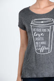T5342 this house runs on love, laughter, and a whole lot of coffee tee