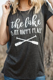 T5342 the lake is my happy place tee
