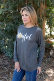 T3532X-JFUL joyful long sleeve sweatshirt plus size