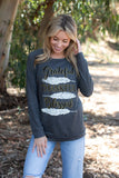 T3532-GRTFUL grateful thankful blessed long sleeve sweatshirt