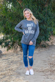 T3532-OOO out of office long sleeve sweatshirt