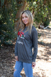 T3532-MXTRK2 pickup truck #2 with Christmas tree long sleeve sweatshirt