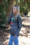 T3532X-MXTRK1 pickup truck with Christmas tree long sleeve sweatshirt plus size