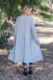 TU1742-HCBRHGY long sleeve sweater knit duster with pockets