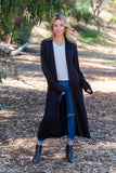TU1742-HGRY long sleeve duster with pockets