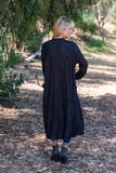TU1742-HCBRBLK long sleeve sweater knit duster with pockets