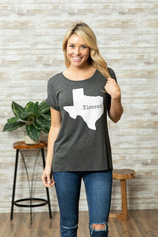 T5342X blessed Texas tee plus size