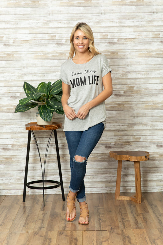 T5342 love this mom life tee