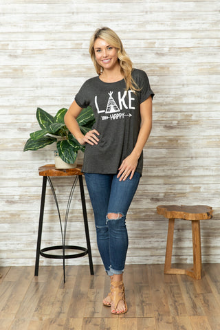 T5342 lake happy tee