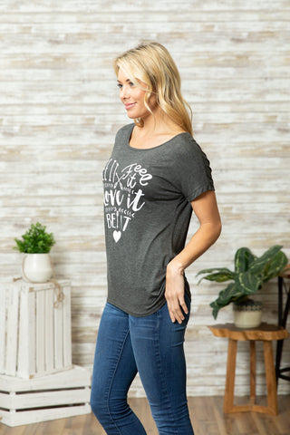 T5342 see it feel it love it be it tee