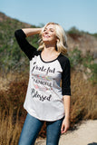 T6593X grateful thankful blessed elbow baseball plus size