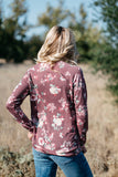 T3532-FL1 floral FL1 long sleeve sweatshirt