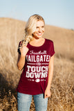 T5342-ROYAL football, tailgates and touchdowns tee