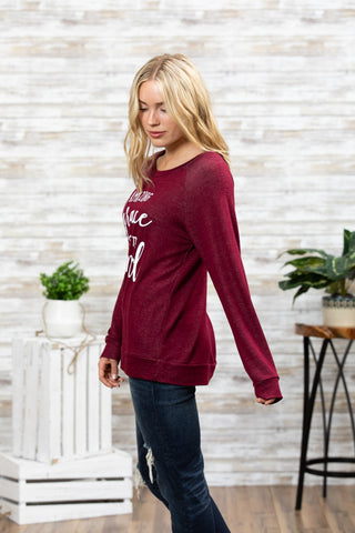 T3532 amazing grace long sleeve sweatshirt