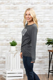 T3532 blessed #2 long sleeve sweatshirt