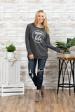 T3532 mom life #2 long sleeve sweatshirt