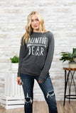 T3532 auntie bear long sleeve sweatshirt