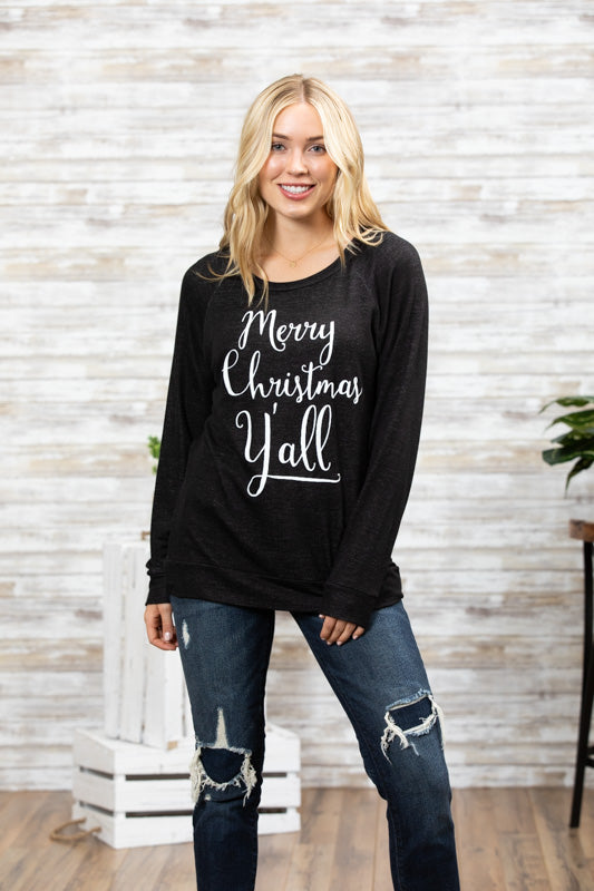 T3532 Merry Christmas yall long sleeve sweatshirt