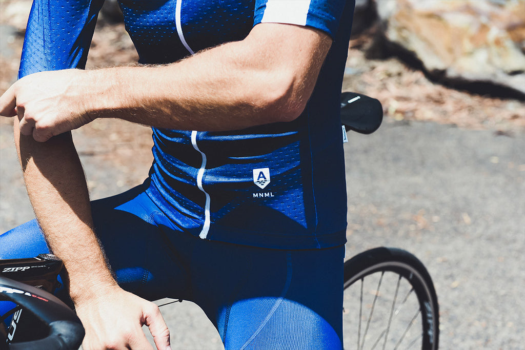 MNML Blue Bib Short^MB-1