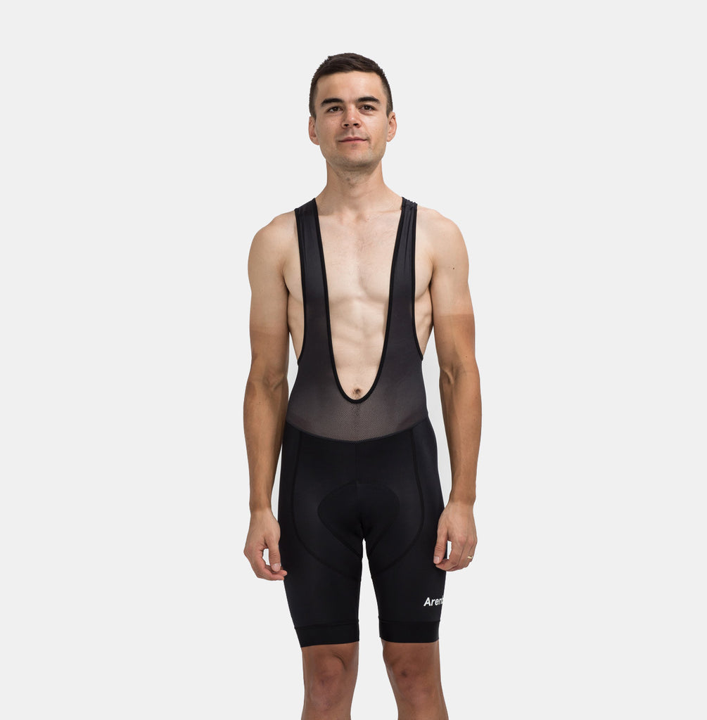 MNML Black Bib Short^MB-2