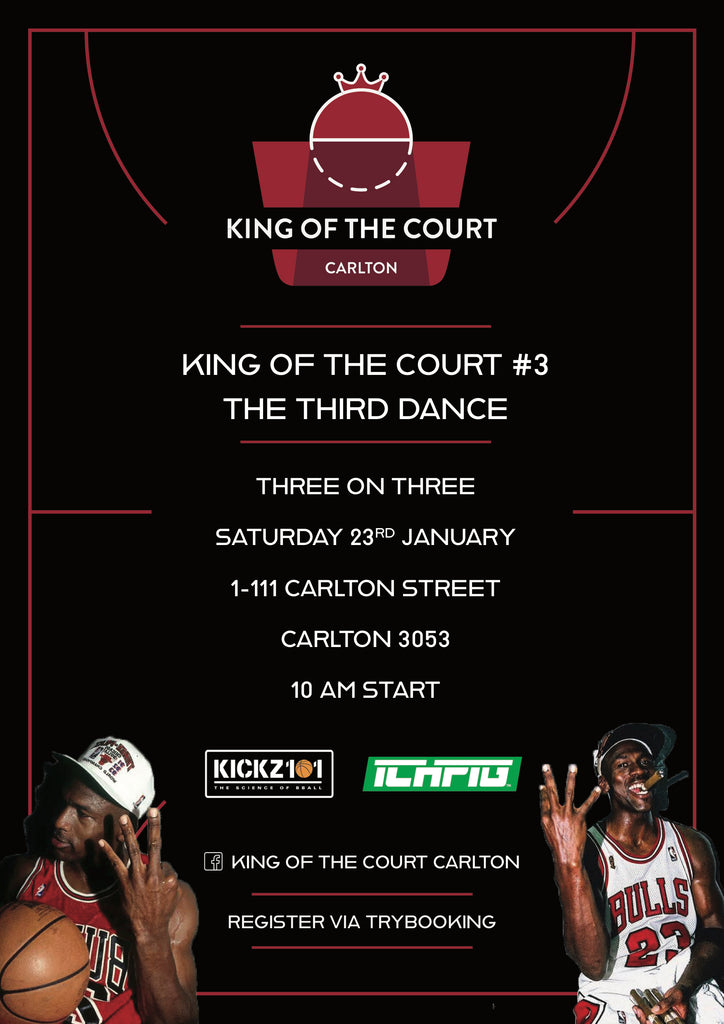 King of the Court Carlton Basketball Event Flyer