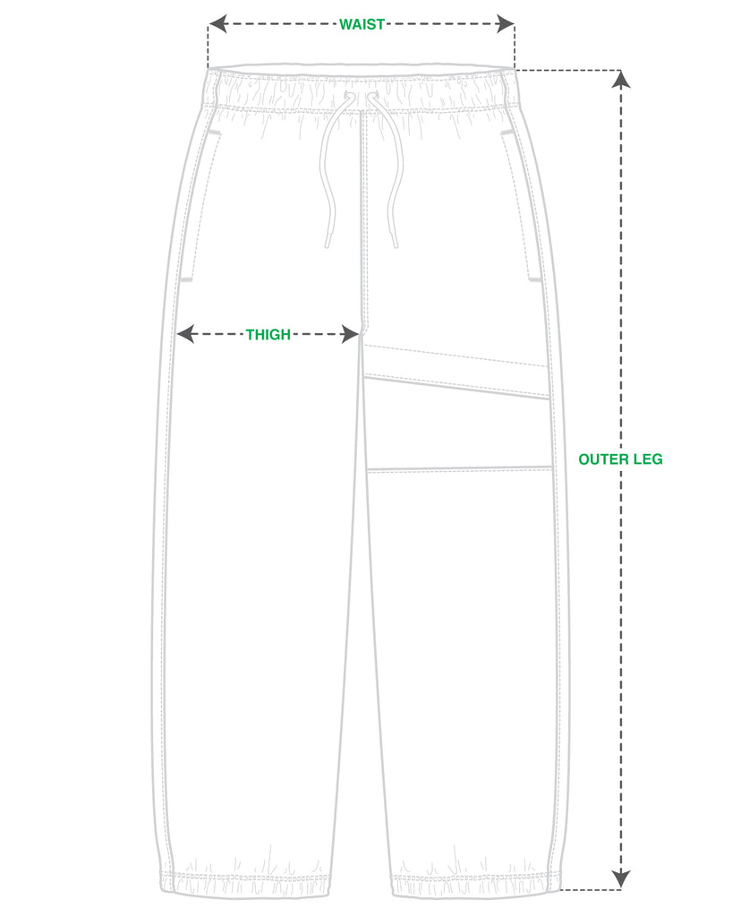 ICHPIG® Flashback Spray Pants Size Guide